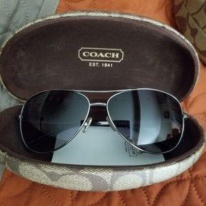 New in case Coach sunglasses
